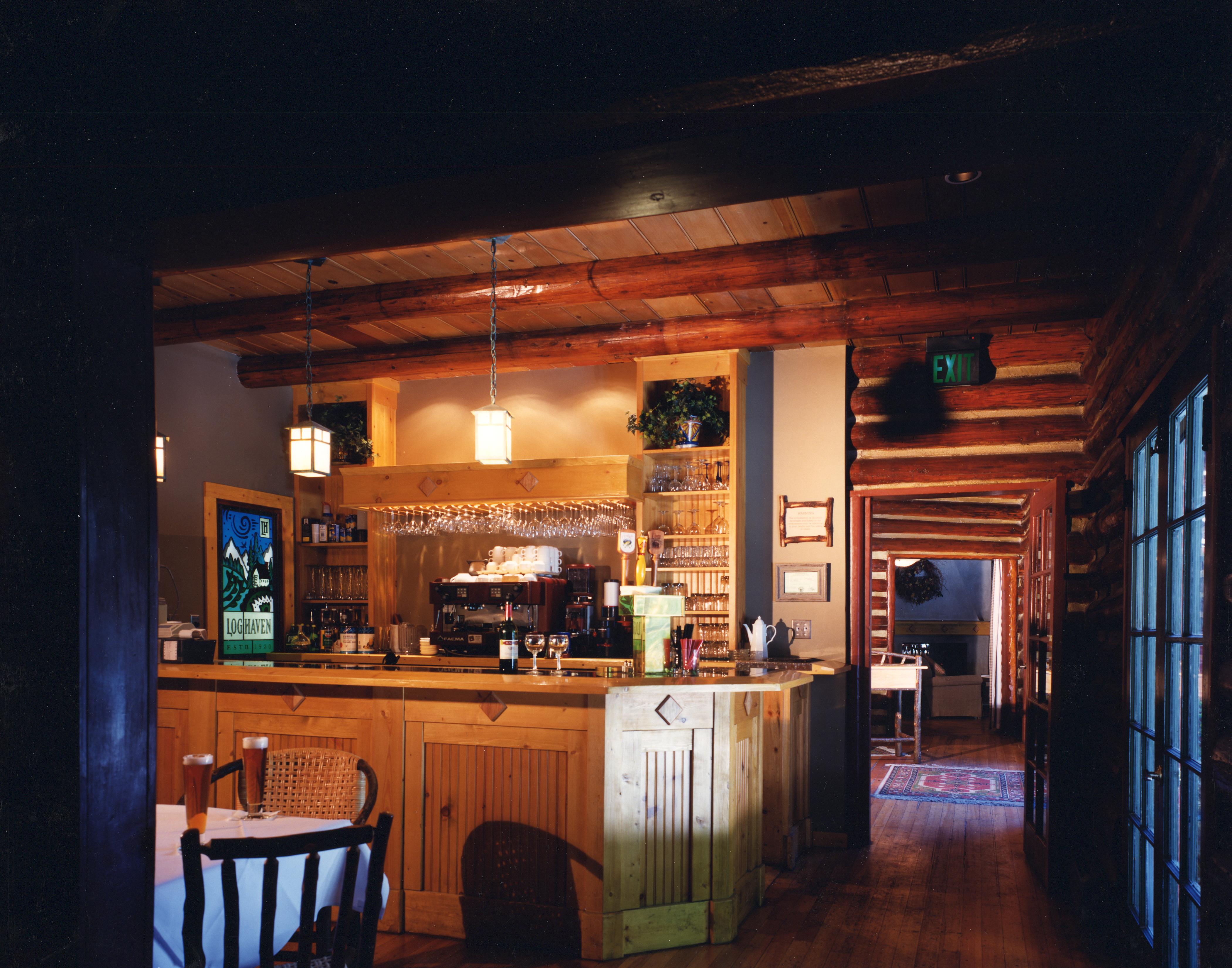 Log Haven. InteriorsRestaurantRestoration